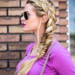 braid into fishtail combo braid hairstyle bmodish