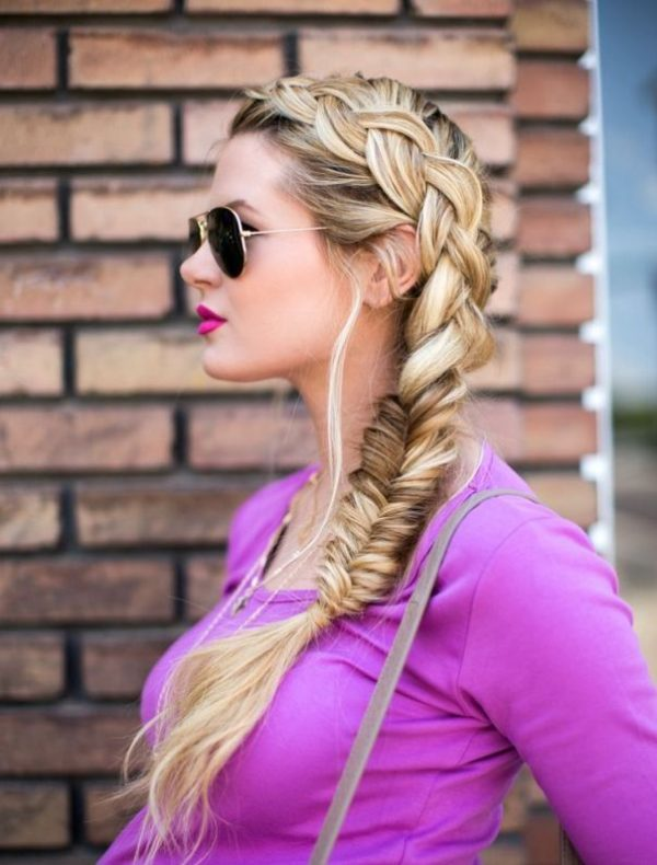 braid into fishtail combo braid hairstyle bmodish
