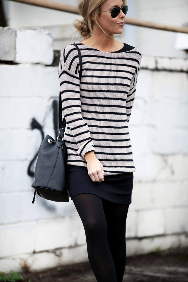 casual with jumper and skirt fall winter outfit bmodish