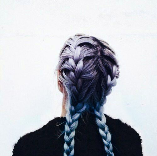 colored braided hairstyle bmodish
