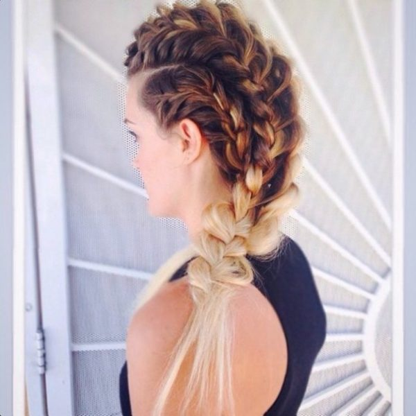 combo fishtail braid hairstyle bmodish