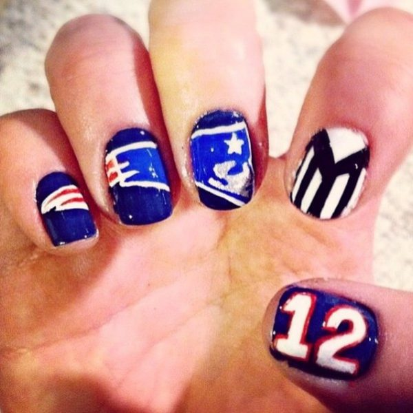 cool seahawk football nail art bmodish