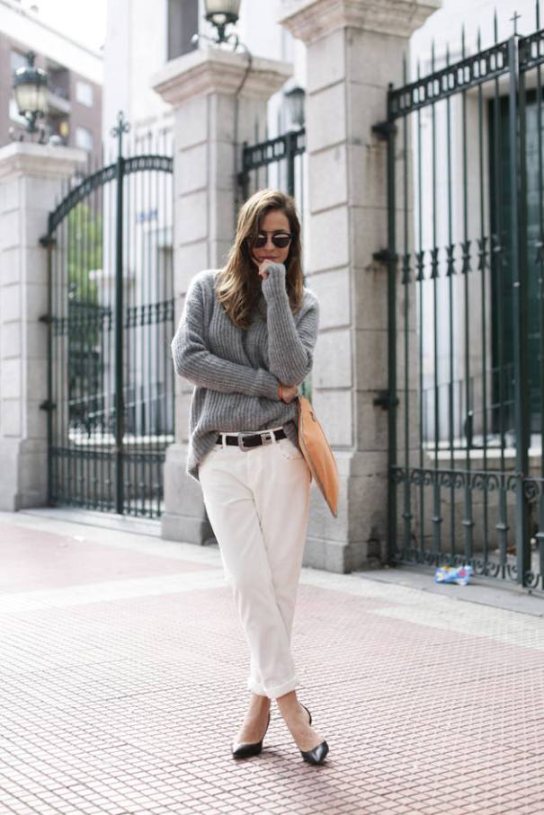 cozy sweater with capri pants outfit bmodish