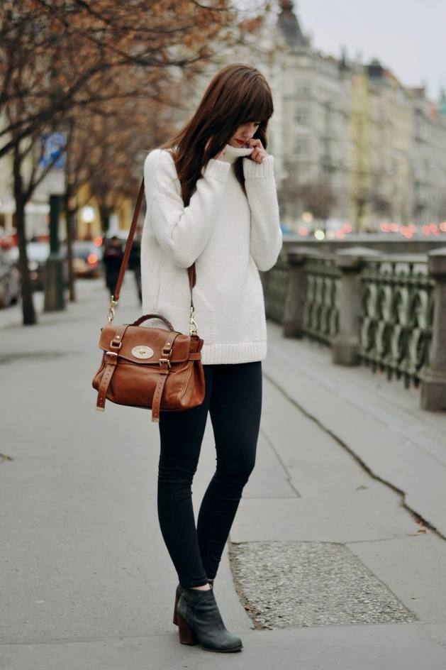 cozy sweater with skinny jeans simple winter outfits bmodish