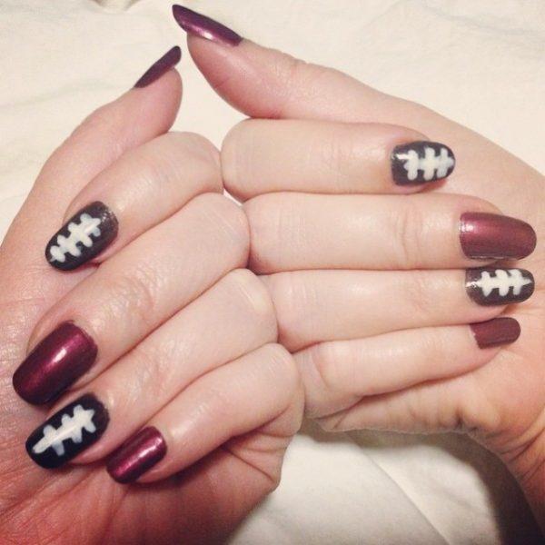cute super bowl nail art 2 bmodish