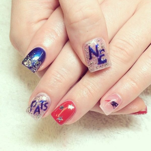 cute super bowl nail art bmodish