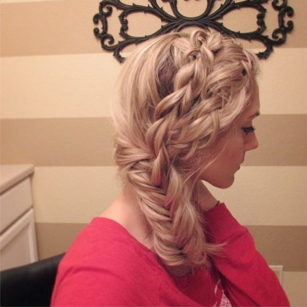dutch braid into fishtail hairstyle bmodish