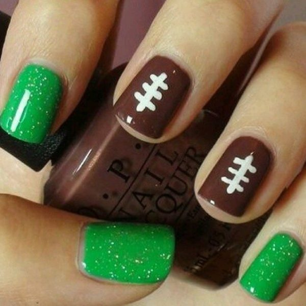 easy super bowl nail art bmodish