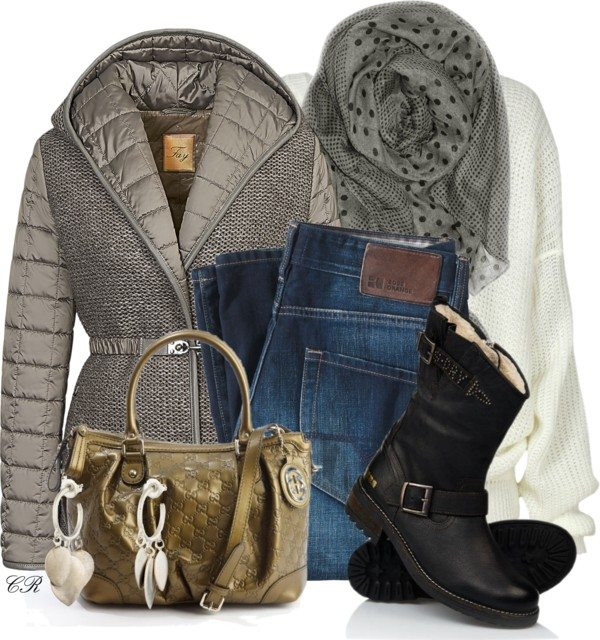 fay quilted jacket casual winter outfit bmodish