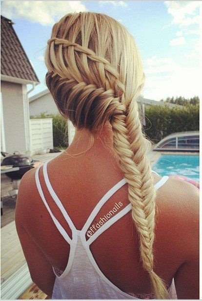 fishtail braid combo hairstyle bmodish