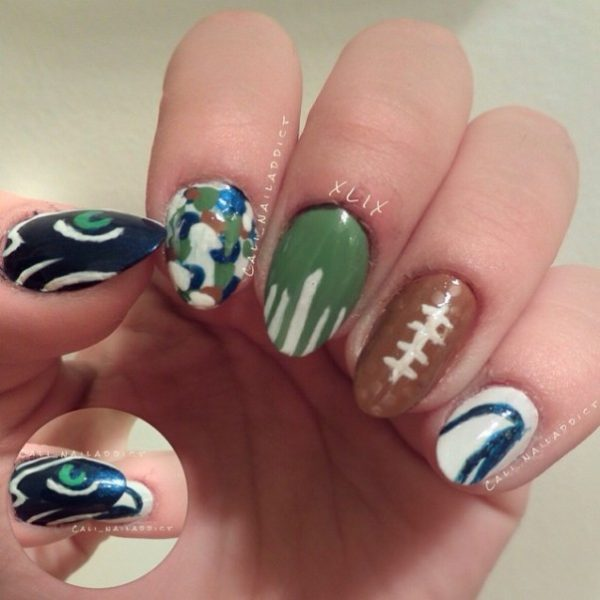 football nail art bmodish
