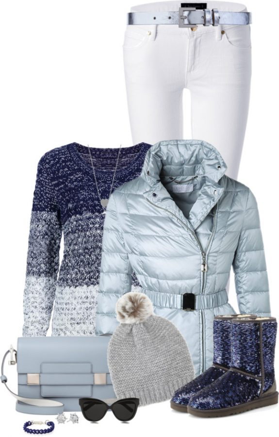 winter glitter ugg boots outfits