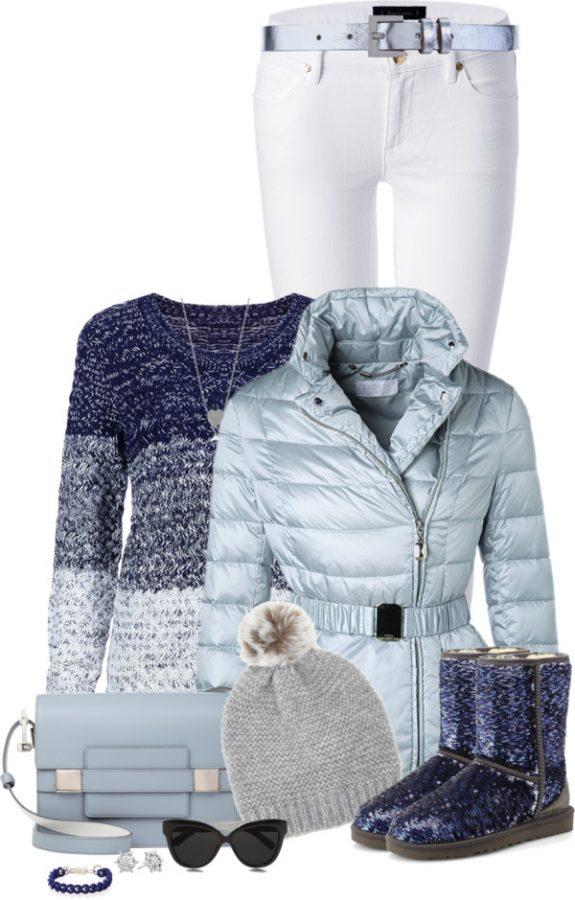 glitter ugg boots winter outfit bmodish