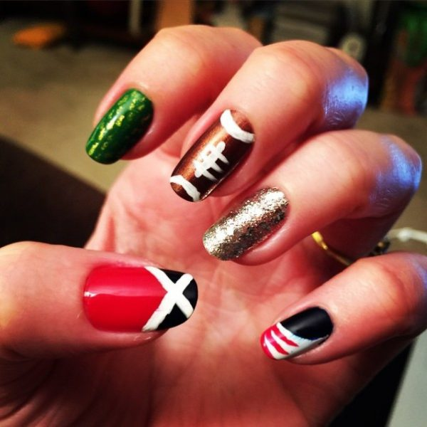 go pats super bowl nail art bmodish