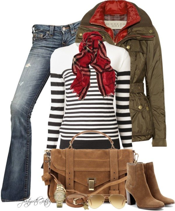 green parka casual winter outfit bmodish