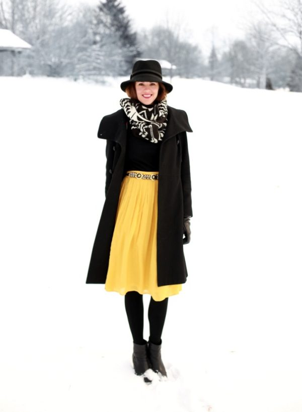 how to wear pleated skirt for fall winter bmodish