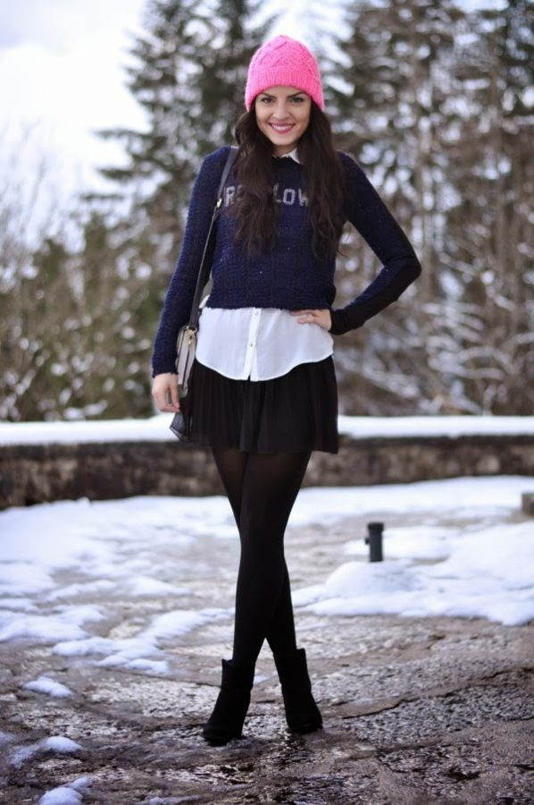 how to wear skirt in winter 2 bmodish