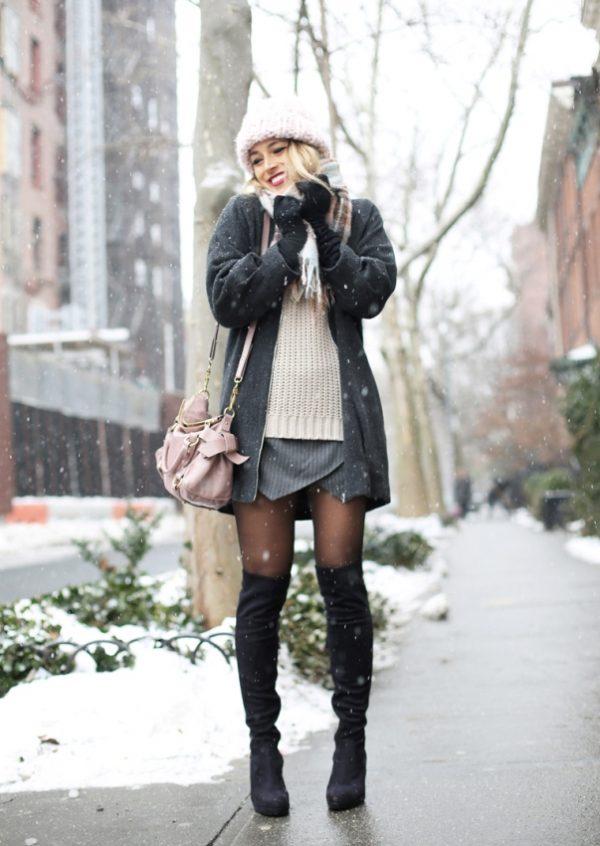 how to wear skort in winter bmodish