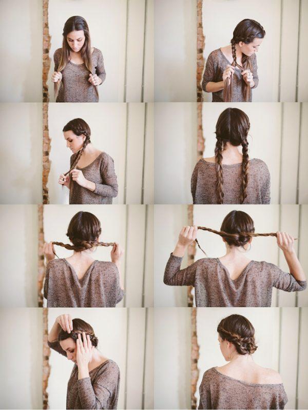 knotted bun maiden braid bun hair tutorial collage bmodish