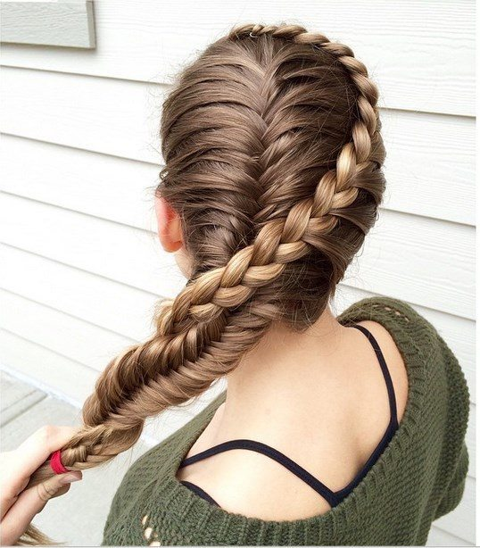 lace braid and french fishtail combo bmodish