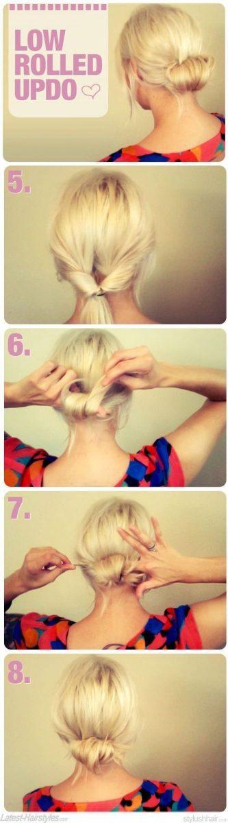 low rolled bun tutorial via bmodish