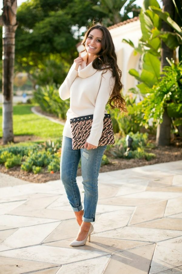 neutral color turtleneck outfit bmodish