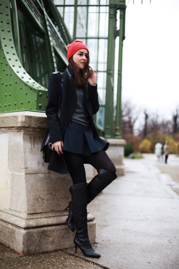 how to wear neoprene skirt in winter