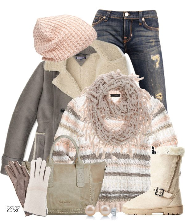 pastel color winter outfit idea bmodish