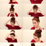 quick and easy messy hair bun tutorial via bmodish