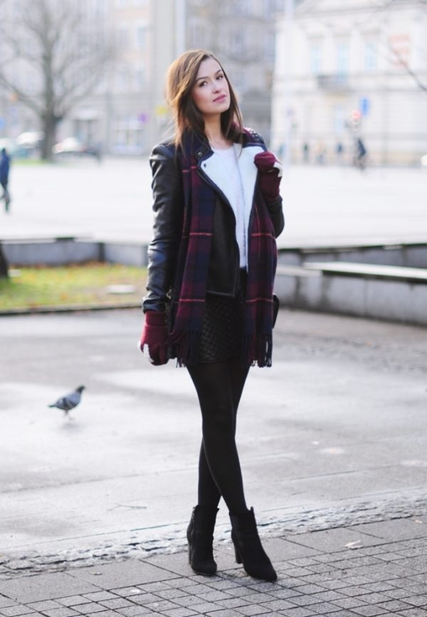 17 Ideas and Simple Guide of How to Wear Skirt In Winter - Be Modish