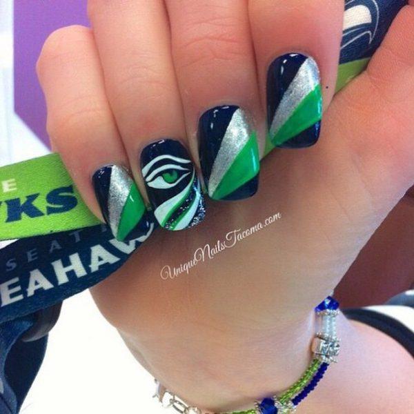 seahawk nail art bmodish