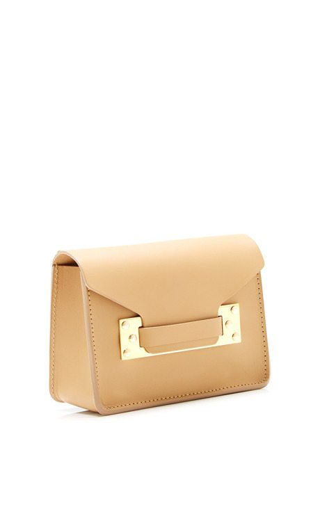 square tan mini envelope bag sophie hulme via bmodish