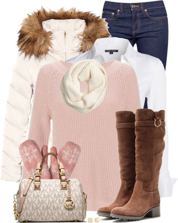 white parka tumblr outfits for winter bmodish
