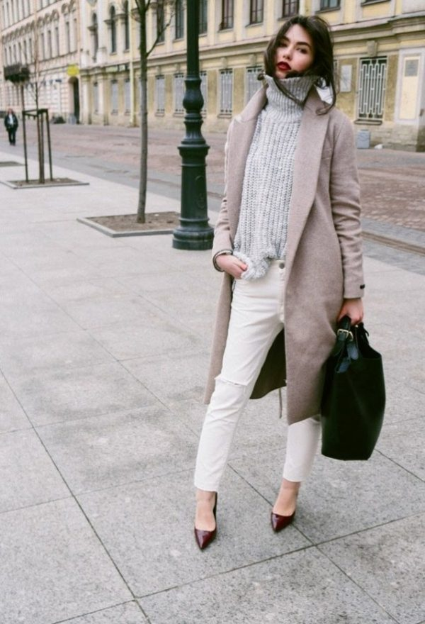 zara turtleneck sweater with long coats bmodish