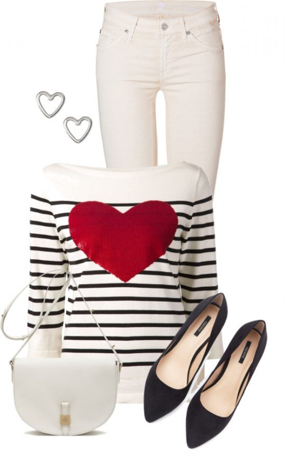 Simple cute valentine outfit bmodish