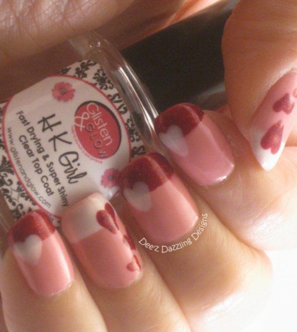 Valentine French Tip nail designs bmodish