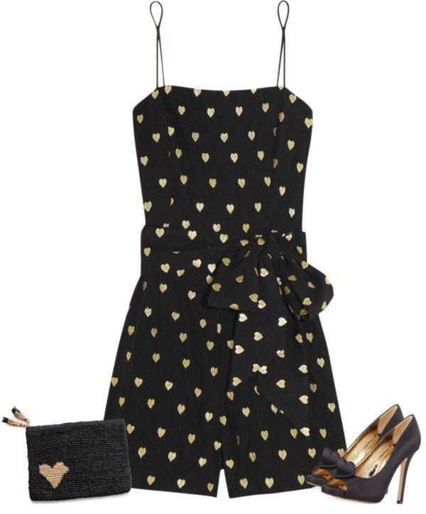 black heart playsuit valentine outfit bmodish