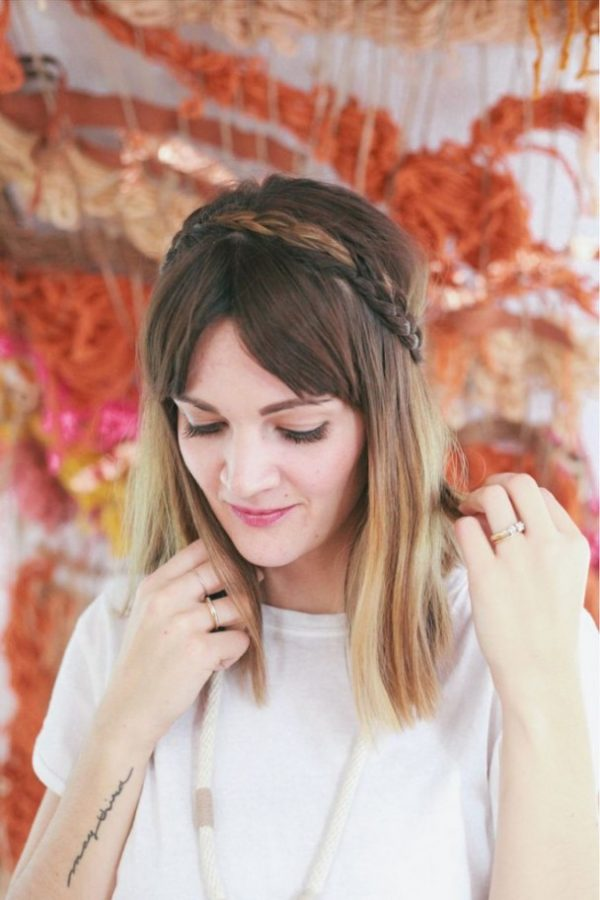 braided crown valentines hairstyle via bmodish