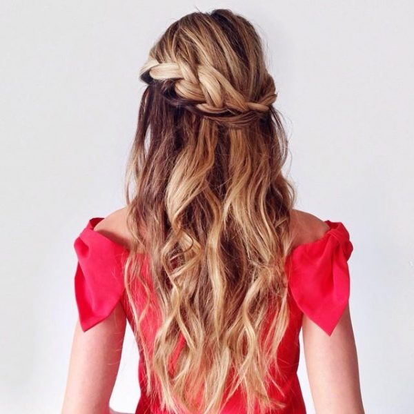 braided-crown waves hair via bmodish
