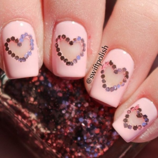 cut out valentine nailart bmodish