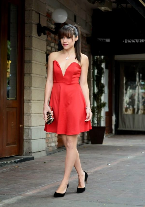 cute dress outfit for valentine via bmodish