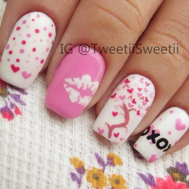 cute full of love tree nailart bmodish