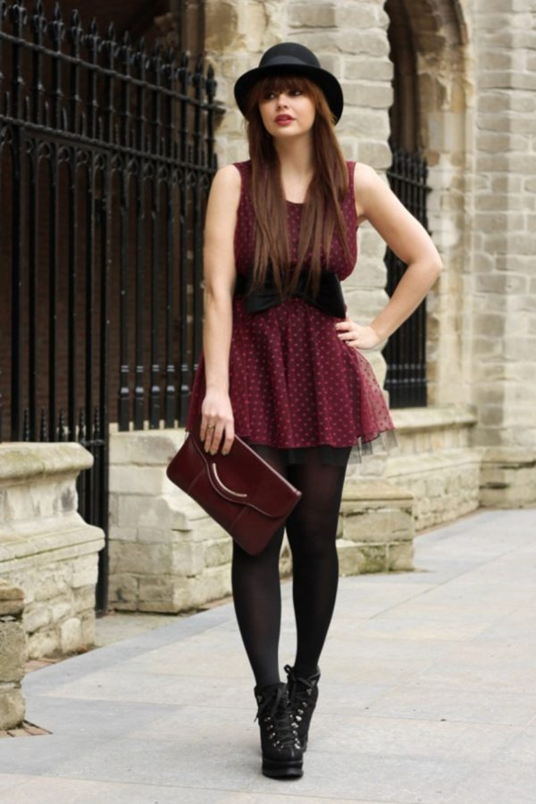 cute polka dot with bow valentine dress via bmodish