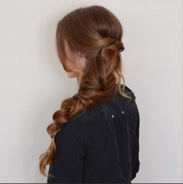 half up and simple messy braid hairstyle via bmodish