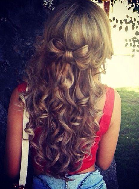 half up into bow hairstyle bmodish