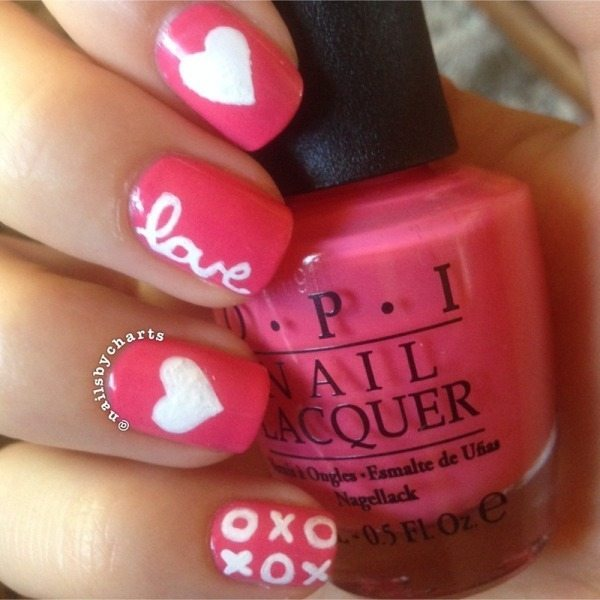 heart and kisses nail designs bmodish