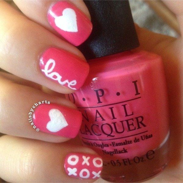 heart and kisses nail designs bmodish