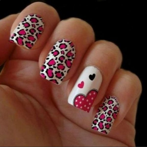 leopard love nail design bmodish