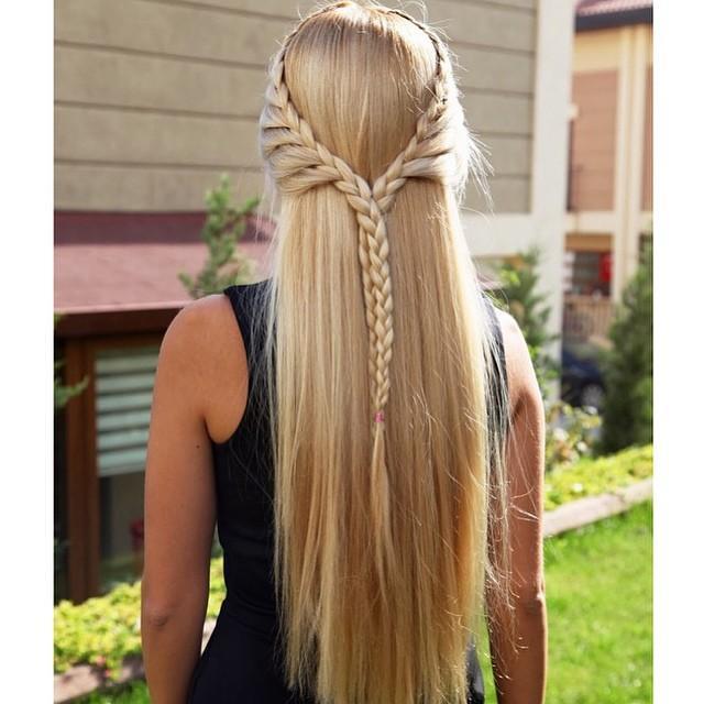 lovely lace crown braid hair via bmodish