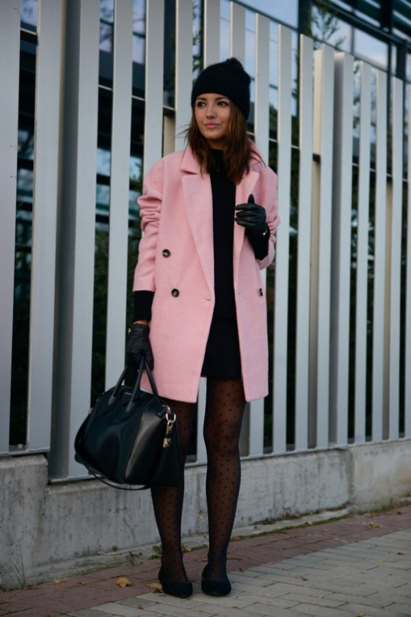 lovely pink coat how to wear pink in winter bmodish